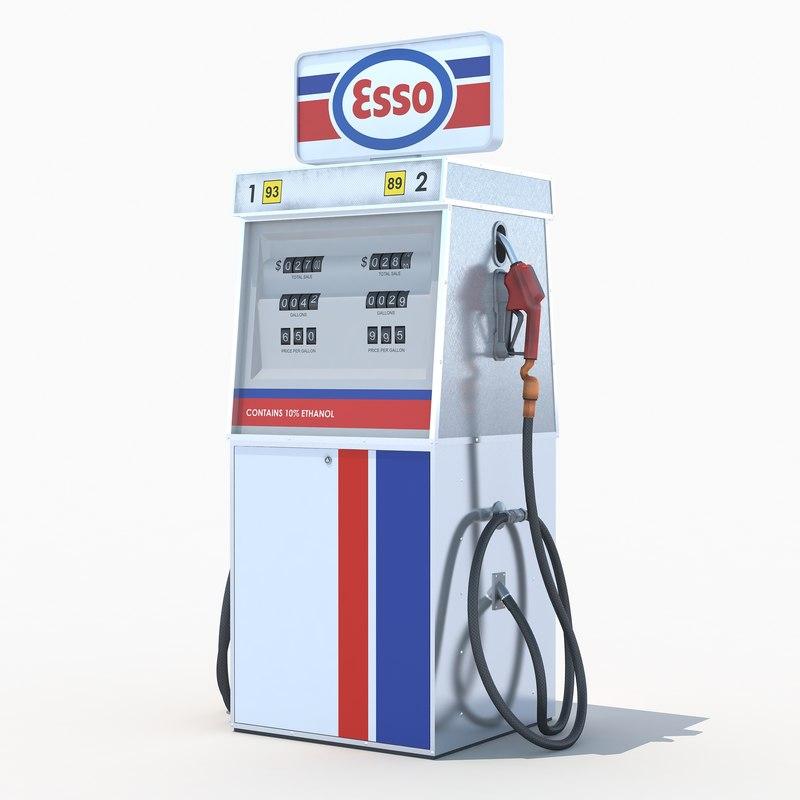 3d esso fuel dispenser model