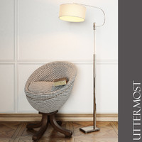 Uttermost - Rufaro, Accent Chair and Adara Floor Lamp