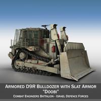 3d israeli armored d9r bulldozer