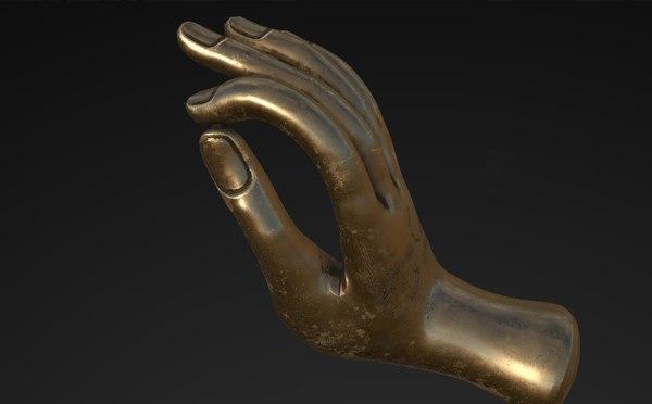free obj model hand buddha