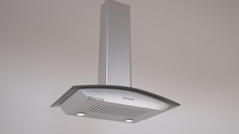 3d model chimney kitchen