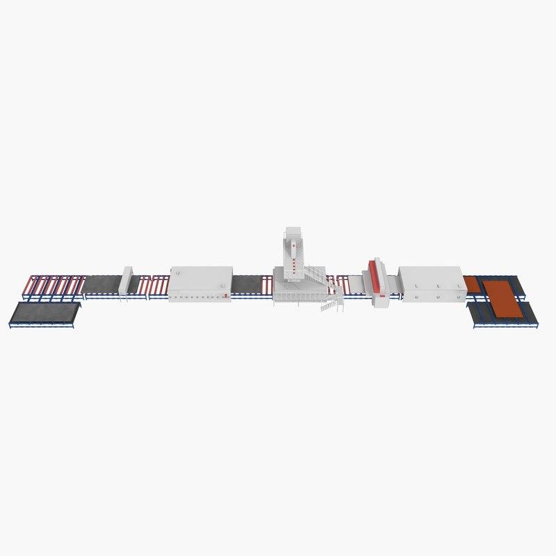 3d line factory model