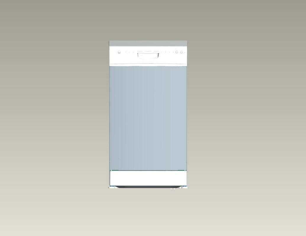 automatic dishwashing machine 3d model