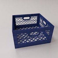 milk crate 3d obj