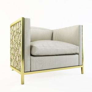 caracole ice breaker armchair 3d max