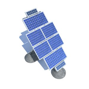 3d model solar panel farm