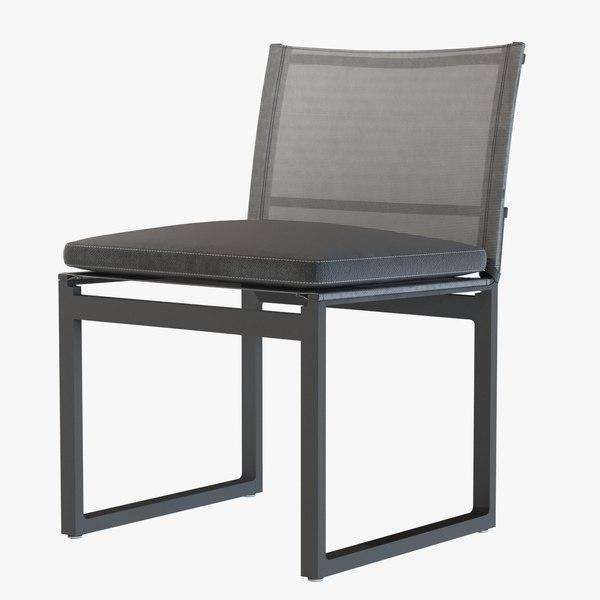 chair aegean aluminum restoration 3d max