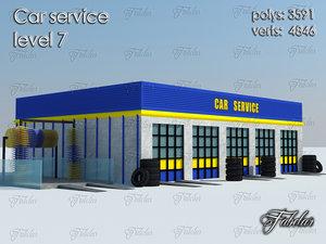 3d model car service level 7