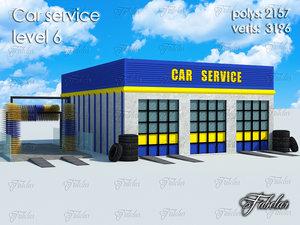 3d model car service level 6
