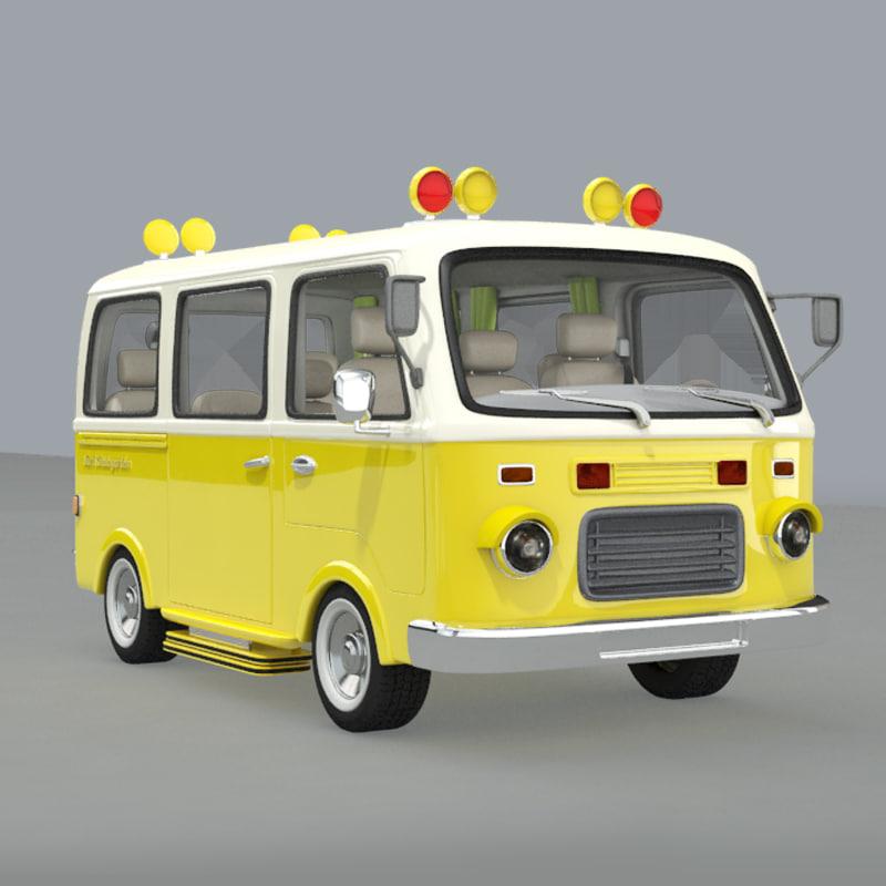 3d cartoon school bus