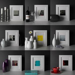 9 art frames nikolay 3d model