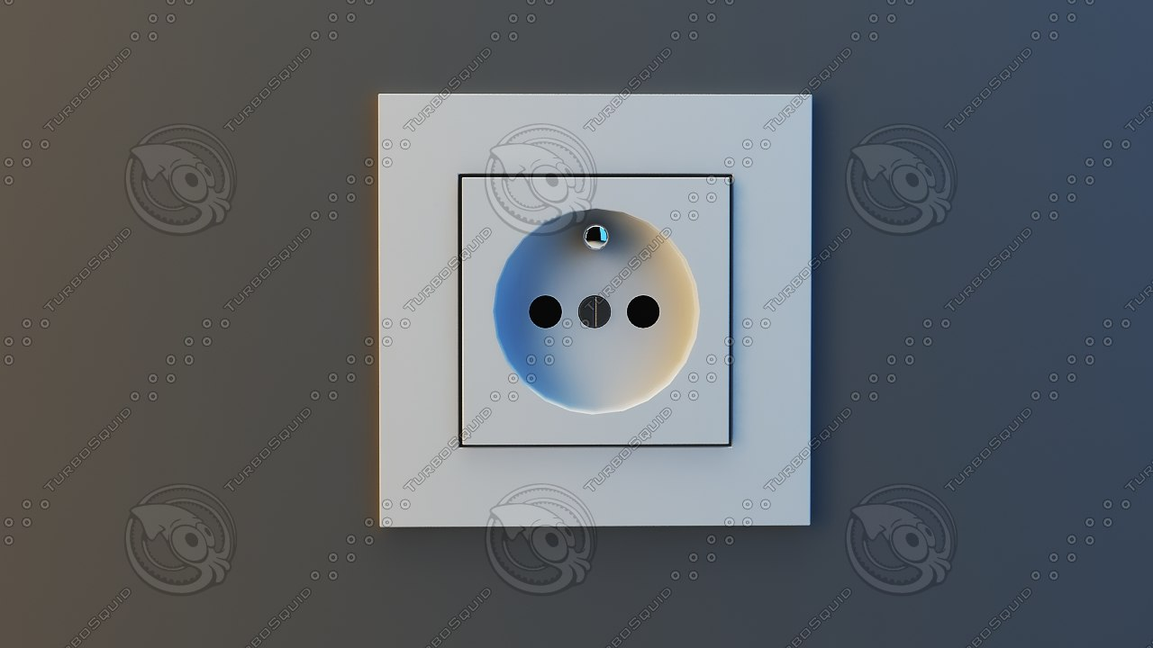 electric socket switches 3d dwg