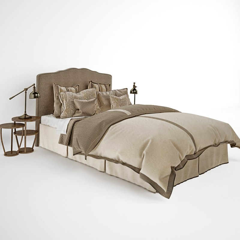 3d model bedding set