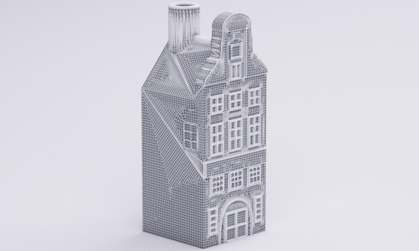 3d dutch ceramic house 2 model