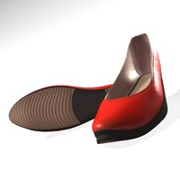 3d model red women shoes