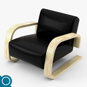 alvar aalto 400 lounge chair 3d max