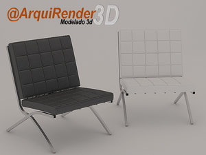 free barcelona chair 3d model
