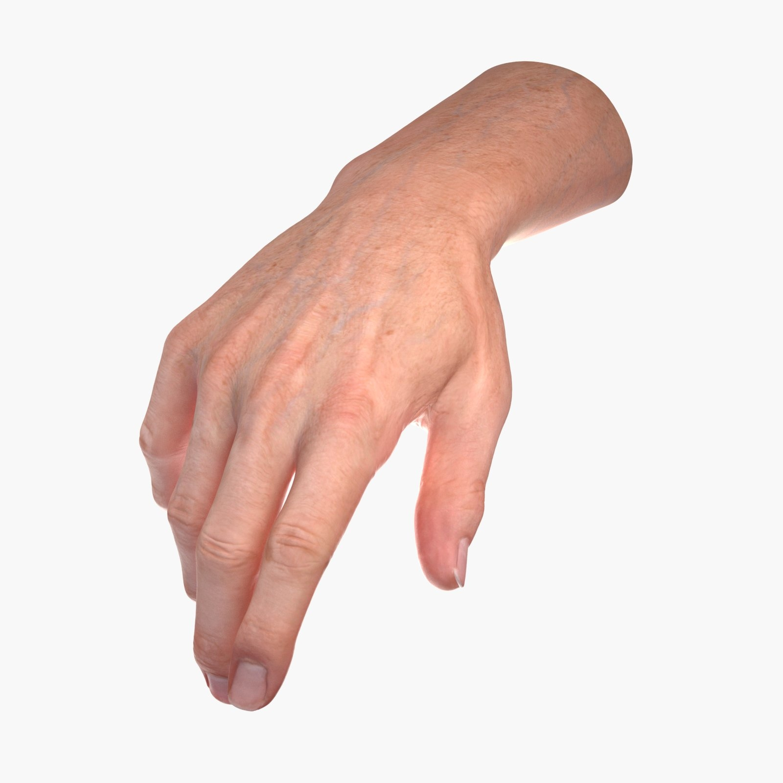 3d model male human hand rigged