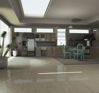 3d kitchen architectural