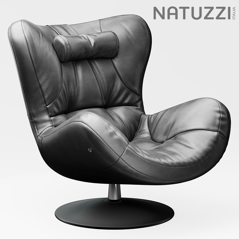 chair armchair natuzzi 3d model