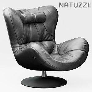 chair armchair natuzzi 3d model