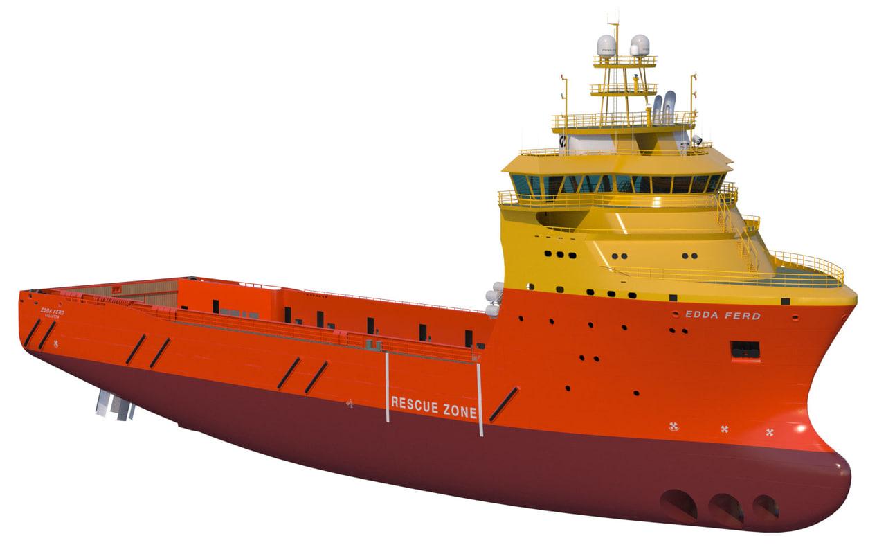 3d model vessel platform supply 92
