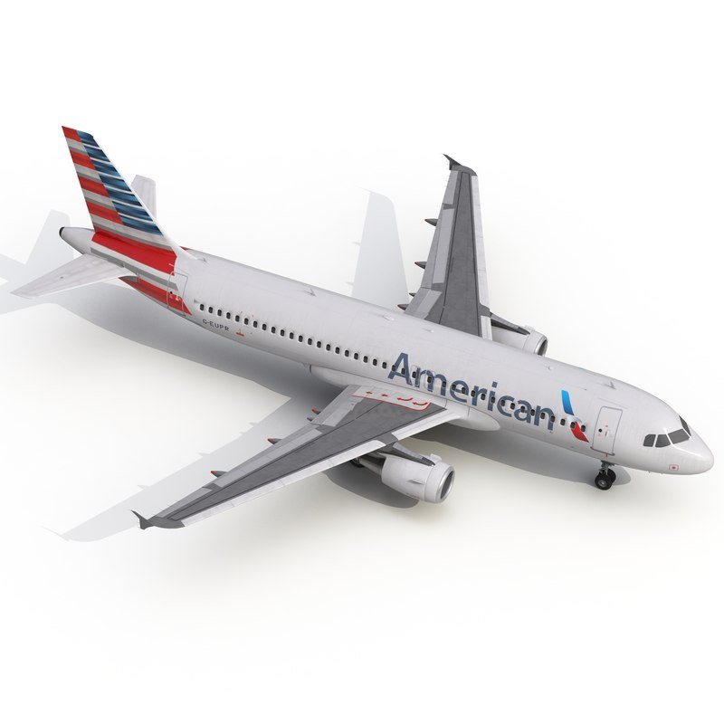 3d airbus a320 american airlines