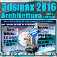 Corso 3ds max 2016 Architettura Guida Completa 3 mesi Subscription 1 Computer
