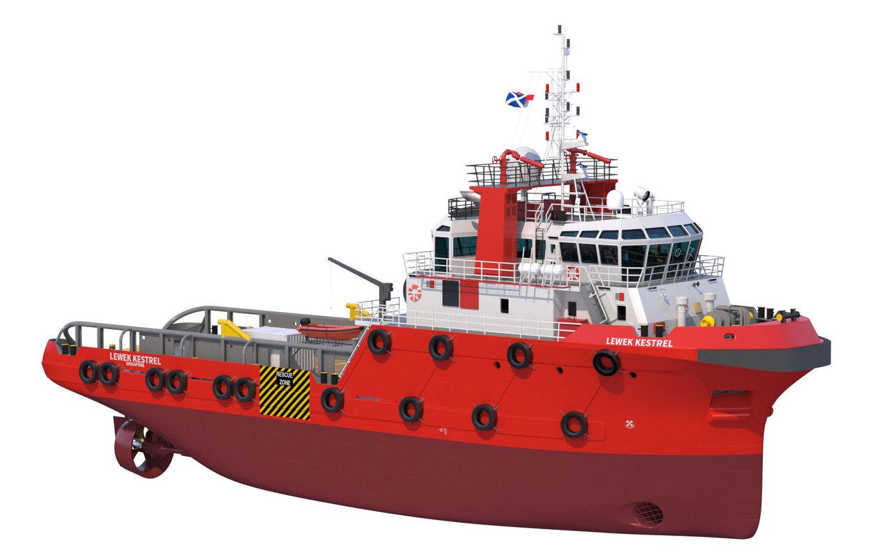 3d model anchor handling tug