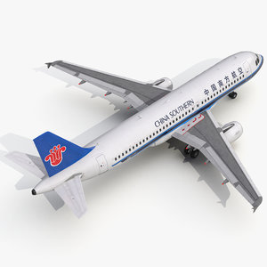 3d model airbus a320 china southern