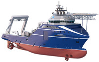 anchor handling supply vessel 3d max