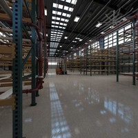 Warehouse with fire protection sprinkler system