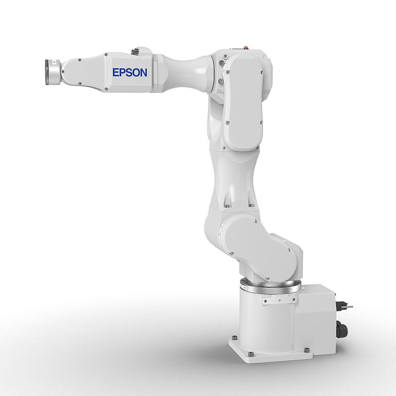 epson c4l 6-axis robot 3d model