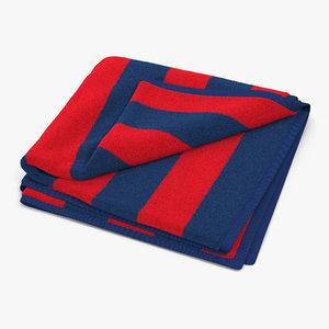 max beach towel 2 red