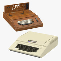apple e iie 3d model