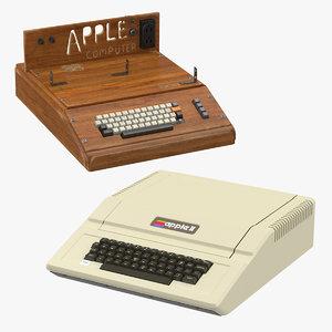 apple e iie 3d model