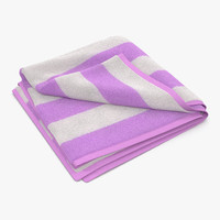 beach towel 2 pink 3d max