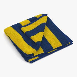 beach towel 2 yellow 3d max