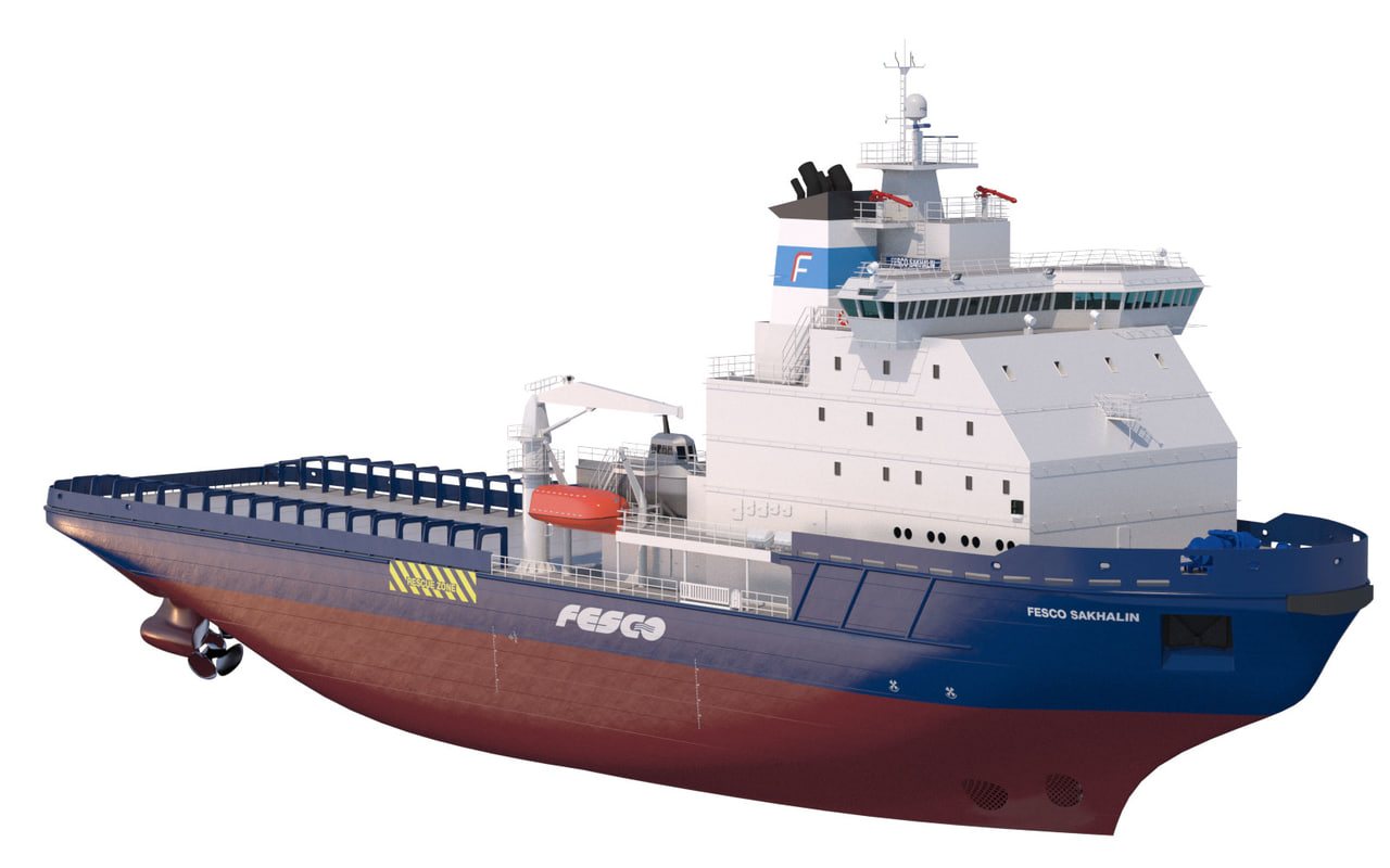 3d icebreaker fesco sakhalin model