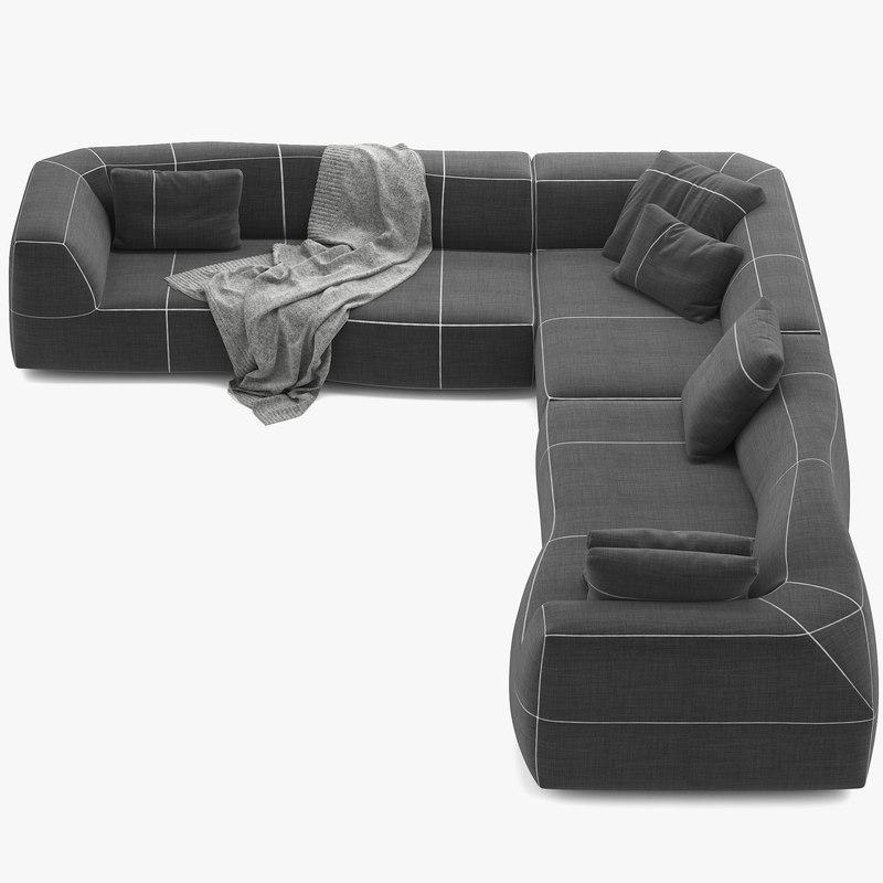 sofa bend 3d max