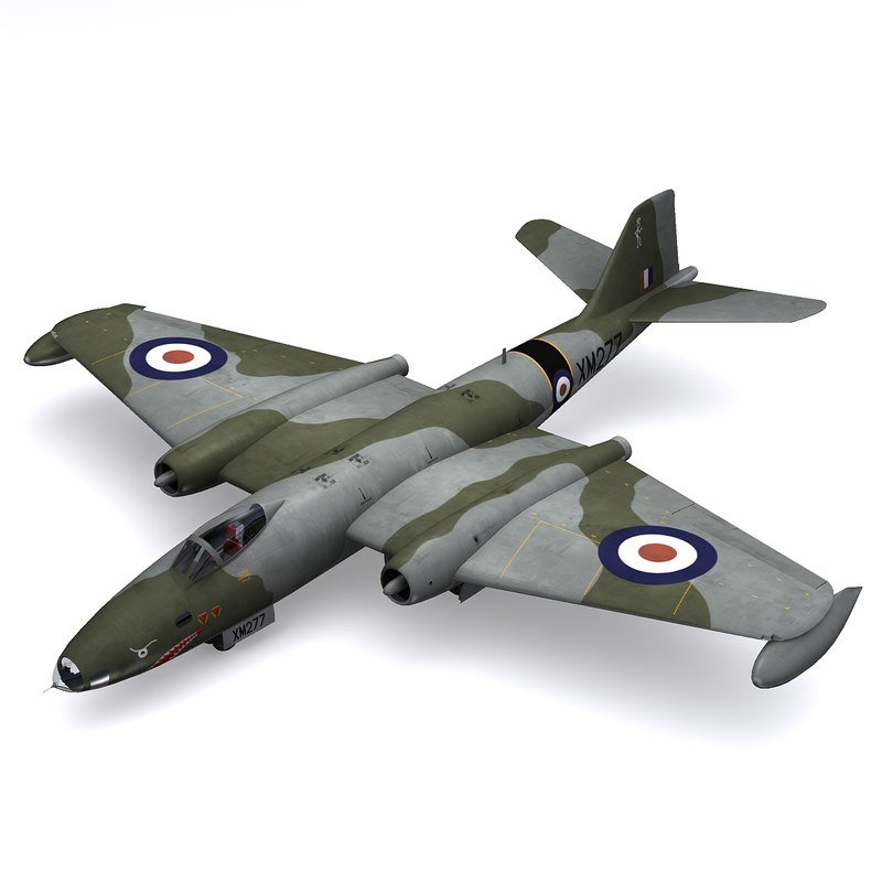 english electric canberra bomber 3ds