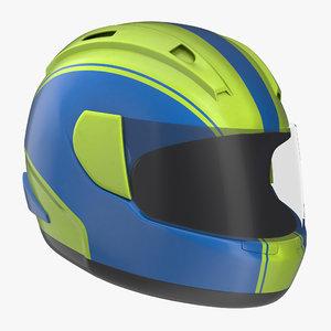 motorcycle helmet generic 2 3d max