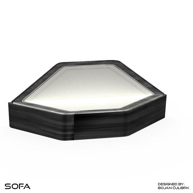 3d model andromeda sofa 2