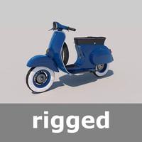 vespa scooter rig obj