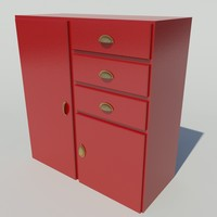 3d model of kitchen cupboards