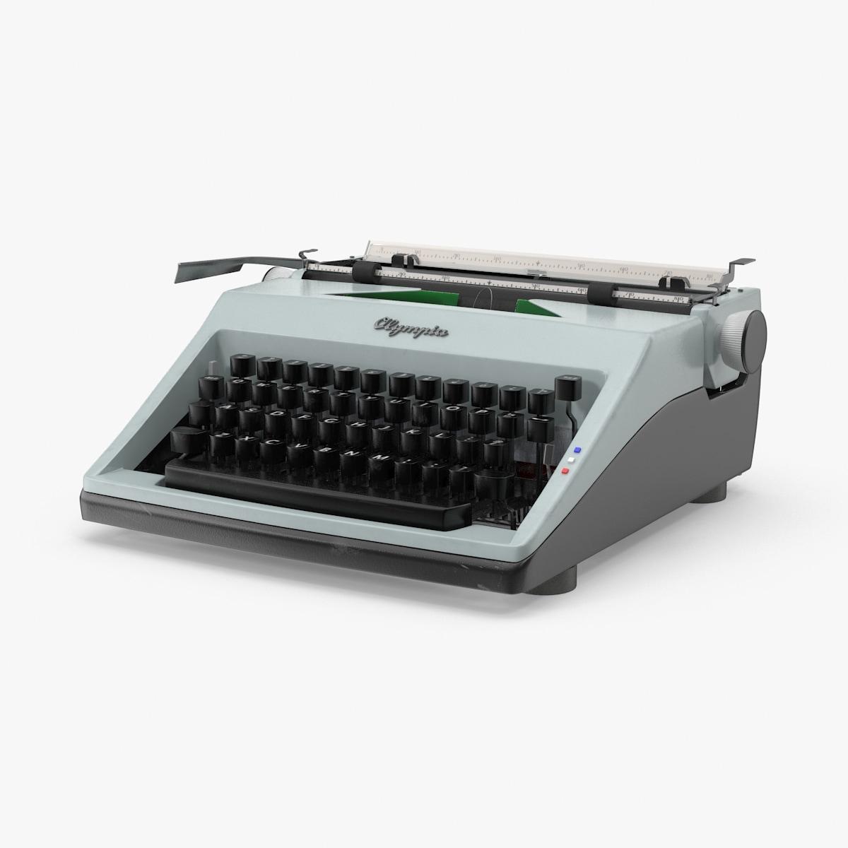 3d model olympia typewriter