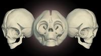 skull alien 3d model