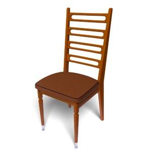 kitchen chair 3d 3ds
