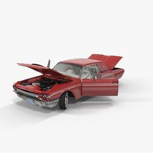 thunderbird 1964 rigged 3d model