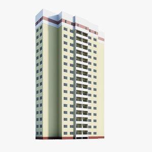 3d model of residential module